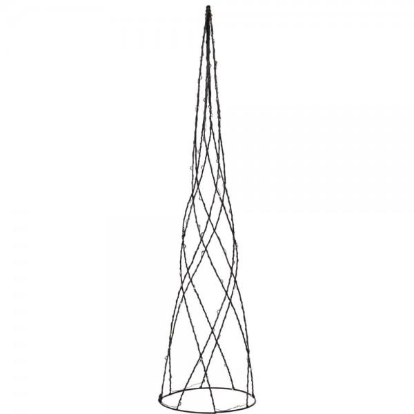 Pyramide, HELIX, H 60cm, Ø 15cm, 64 warmweiße LEDs
