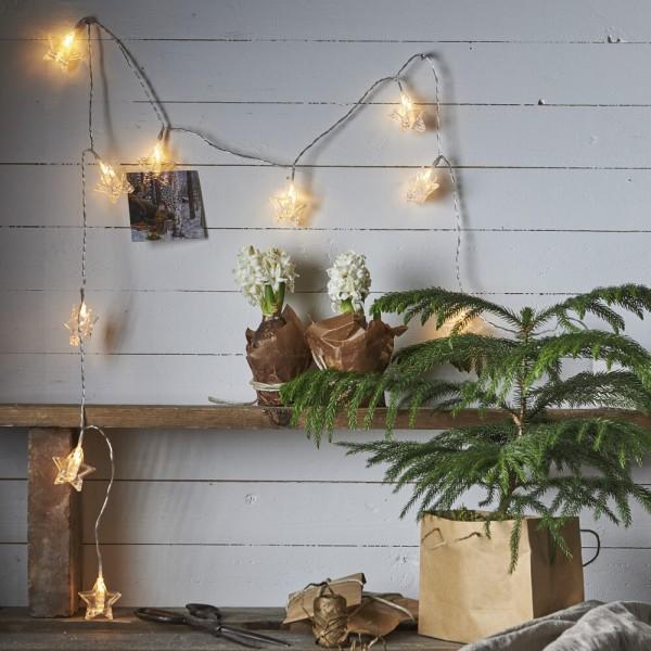 LED-Minilichterkette, CLIPPY, L 210cm, 10 warmweiße LEDs