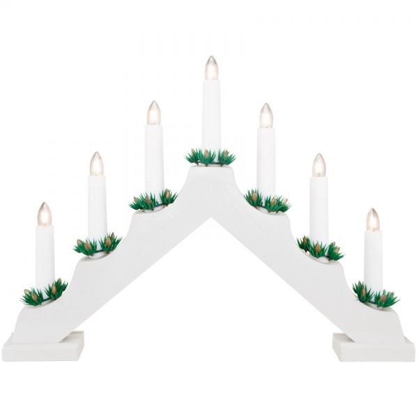 Weihnachtsleuchter weiß, 7 x E10/34V/3W