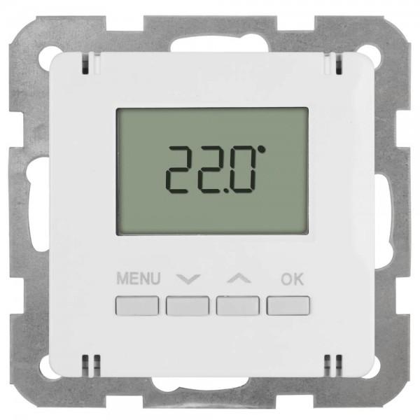 Panasonic® - Kombi-Raumthermostat, elektronisch, Zentralplatte 55 x 55 mm, LCD-Display, reinweiß