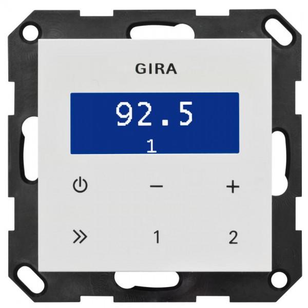 GIRA Kombi-Unterputz-Radio, RDS, SYSTEM 55, reinweiß glänzend