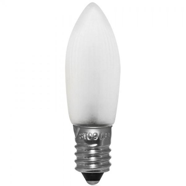 10 x 8-34 V LED-Topkerze, klar, E10, warmweiß