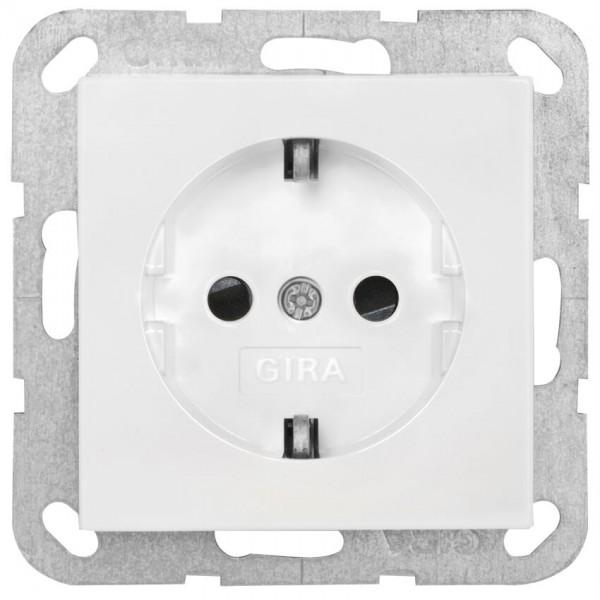 GIRA® - Kombi-Steckdose mit erhöhtem Berührungsschutz, SYSTEM 55, reinweiß glänzend- 045303