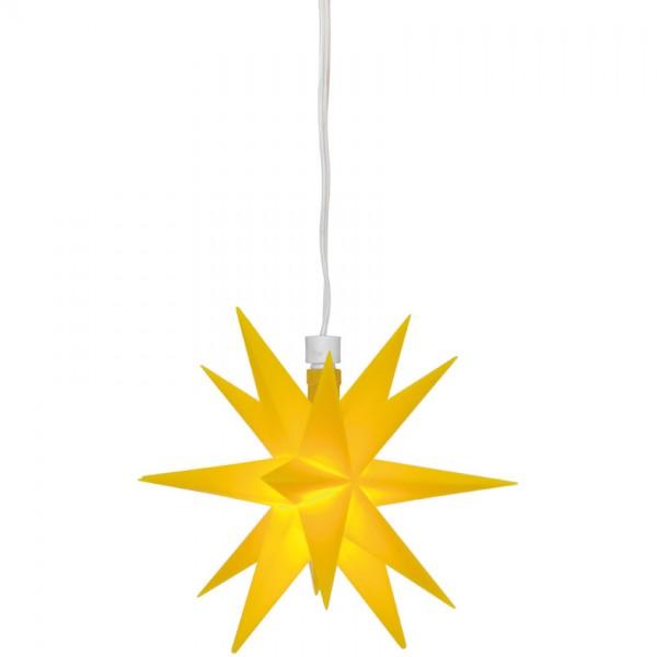 LED-Stern, gelb, 1 warmweiße LED, mit Batteriebox, Ø 120