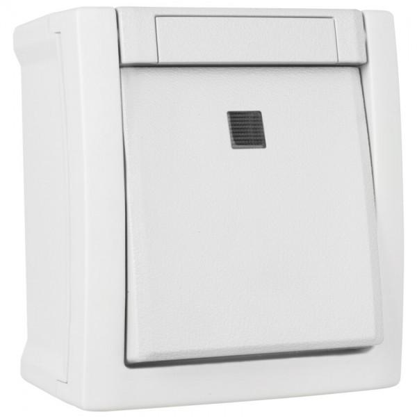 Panasonic® - AP/FR - PACIFIC - weiß - Taster, Schließer, beleuchtet