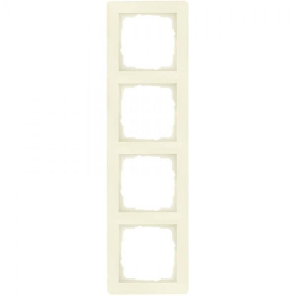 GIRA® - 4-fach Abdeckrahmen, SYSTEM 55, cremeweiß glänzend 021401