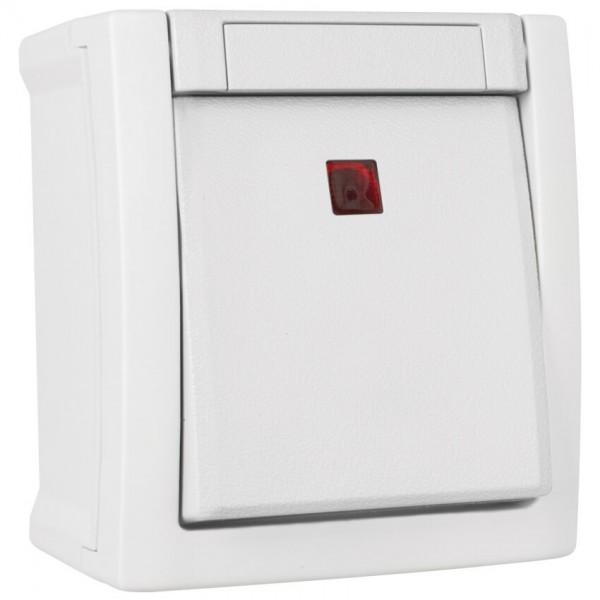 Panasonic® - AP/FR - PACIFIC - weiß - Aus-Kontroll-Schalter, 2 pol., beleuchtet