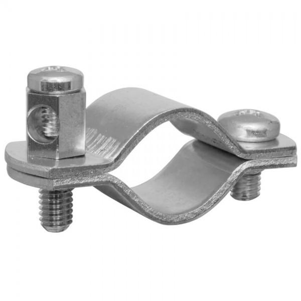 Erdungsrohrschelle, Bandeisen verzinkt, für verzinkte Rohre-1/2 Zoll