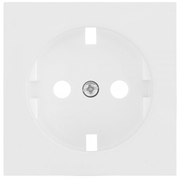 GIRA® - Ersatzplatte, für Kombi-Steckdose, SYSTEM 55, reinweiß glänzend