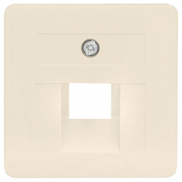KLEIN®-SI - Zentralplatte UAE 1-fach, 50x50mm, cremeweiß