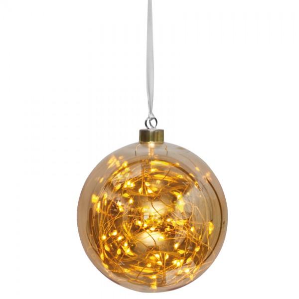 LED-Glaskugel, Ø 15cm, GLOW, 40 warmweiße LEDs