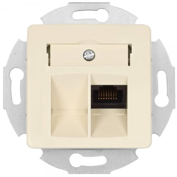 KLEIN®-SI - Telefondosen-Einsatz UAE 8 cremeweiß
