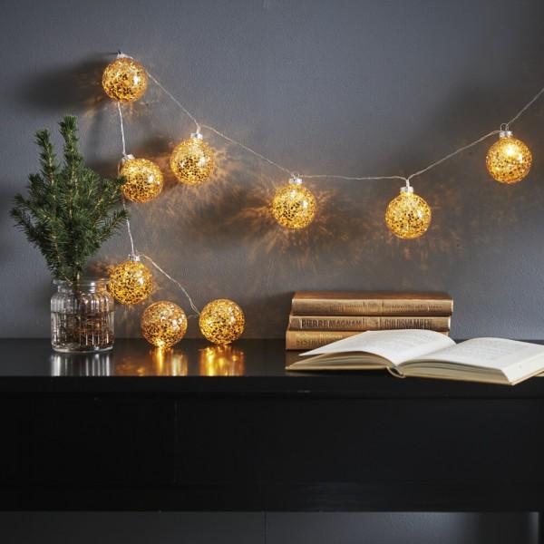 LED-Minilichterkette, GLITTER, 10 warmweiße LEDs