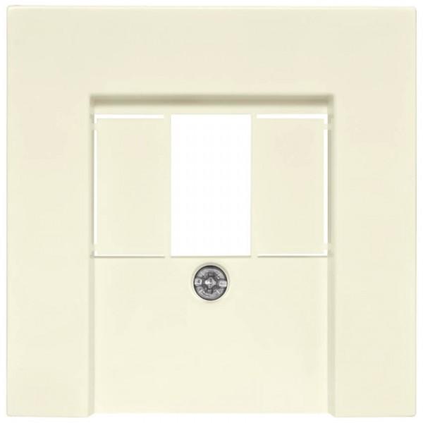 GIRA® - Zentralplatte, für 1 bis 3-fach-TAE-Steckdose, SYSTEM 55, cremeweiß glänzend