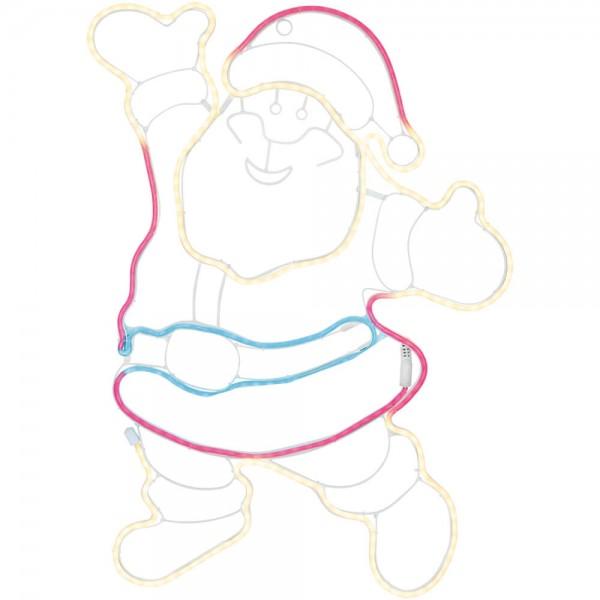 Lichtschlauchmotiv, Weihnachtsmann, H 74cm, B 55cm, 300 farbige LEDs/20W
