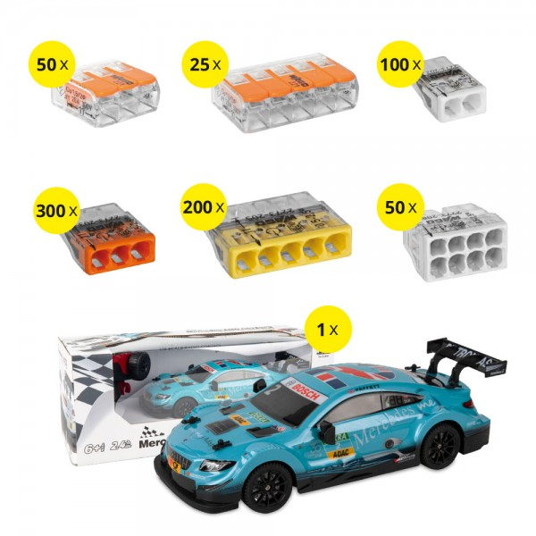 WAGO Klemmen Aktionspaket - 725 Teile + RC Mercedes-Benz AMG C63 DTM im Maßstab 1:16