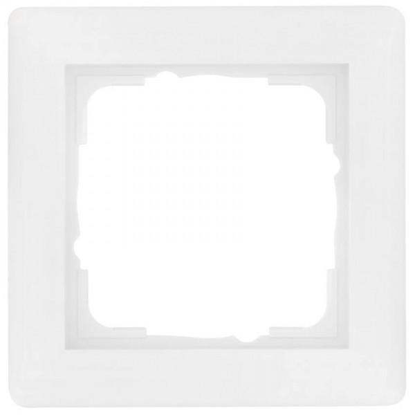 GIRA® - 1-fach Abdeckrahmen, SYSTEM 55, reinweiß glänzend-021103