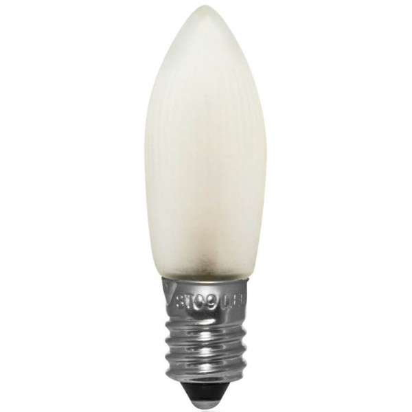 3x LED-Topkerze, matt, E10-12V-0,1W