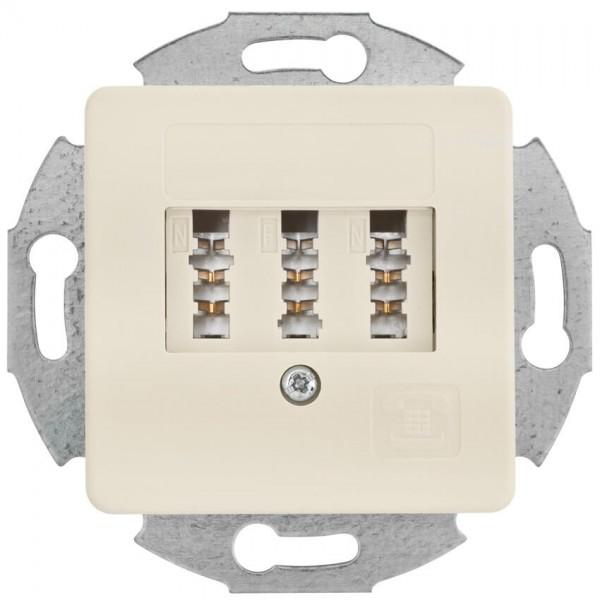 KLEIN®-SI - Telefonsteckdose TAE 3x6 NFN weiß