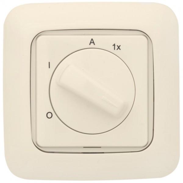 KLEIN®-SI - UP-Außenlichtschalter cremeweiß
