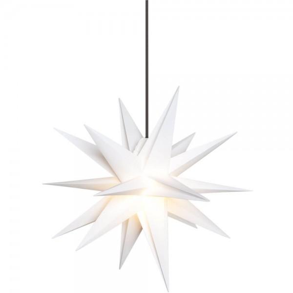 Weihnachtsstern, weiß, Ø65cm, 1 x E14/15W