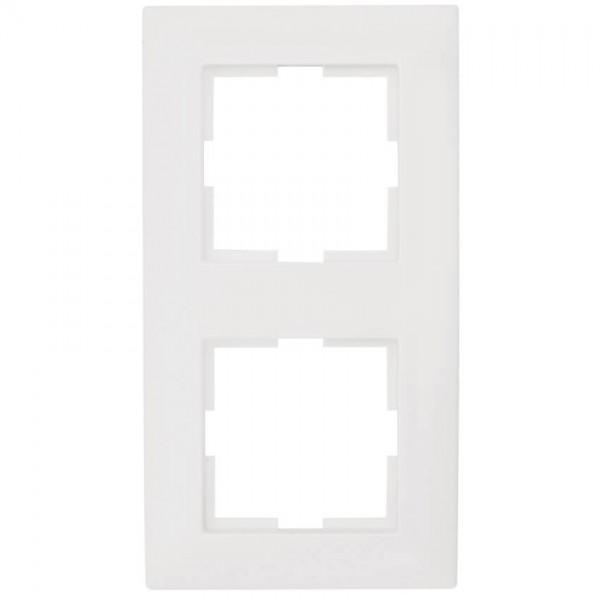 Panasonic® - Abdeckrahmen, MERIDIAN, reinweiß - 2-Fach