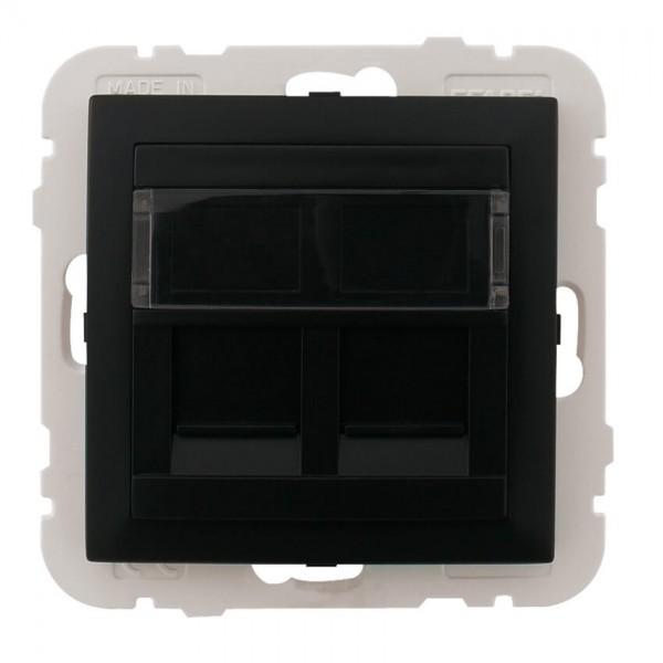 EFAPEL® - Zentralplatte, für UAE 1-2-fach, für Keystonemodule, mit Kunststoffträger, LOGUS 90, sc