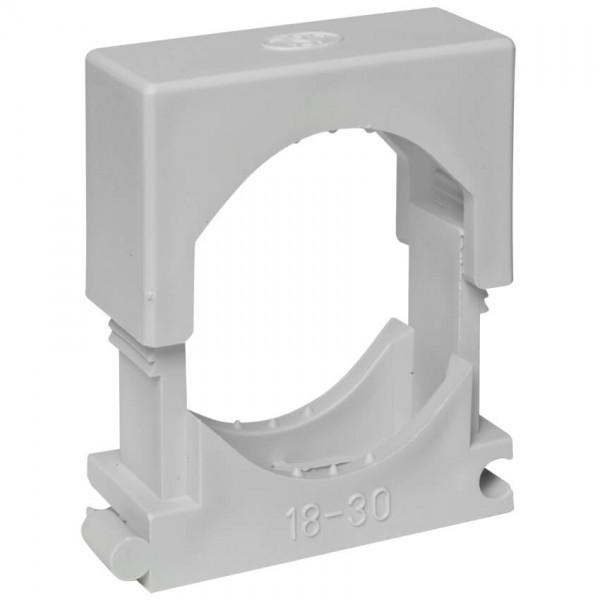 Reihen-Druckschelle, grau, anreihbar, halogenfrei-18 - 30 mm
