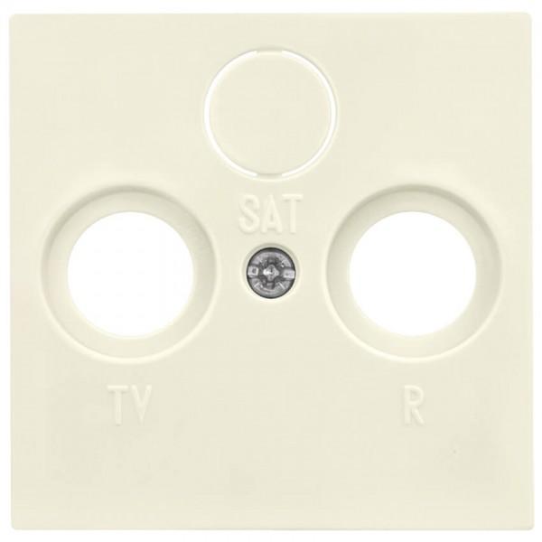GIRA® - Zentralplatte, für TV/Radio/SAT- Antennensteckdose, SYSTEM 55, cremeweiß glänzend