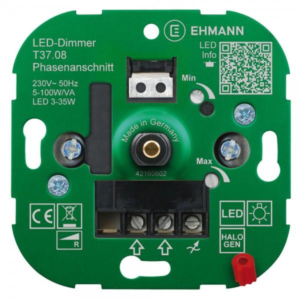 Dimmer- Einsatz UP für dimmbare LED geräuschlos 5-100 Watt