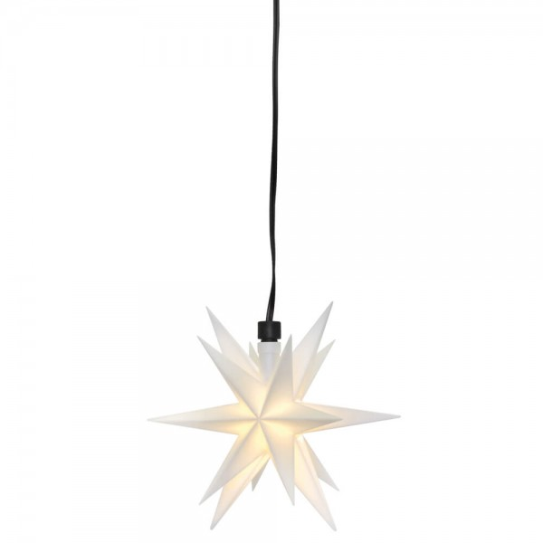 LED-Stern - weiß, 1 warmweiße LED, Ø 12cm