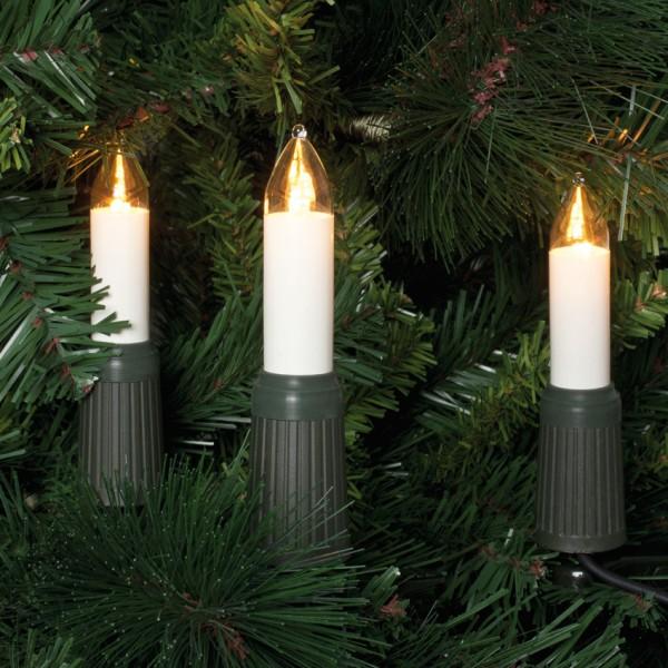 LED-Weihnachtsbaumkette, klar/elfenbein, 30 x LED/E14/8-34V/max. 0,3W
