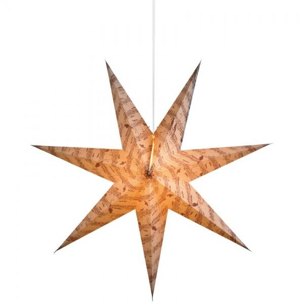Weihnachtsstern, Ø 75cm, MUSICA, 1 x E14/25W