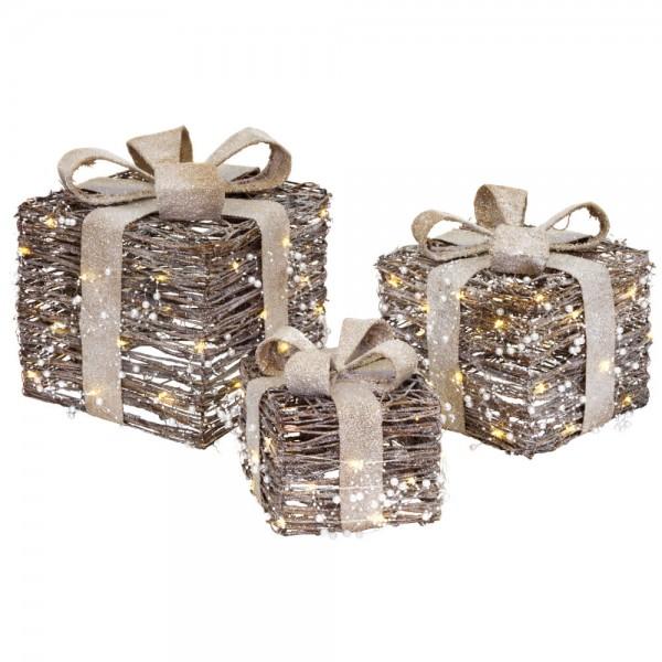 Geschenke, 3er-Set, 20/30/40 warmweiße LEDs