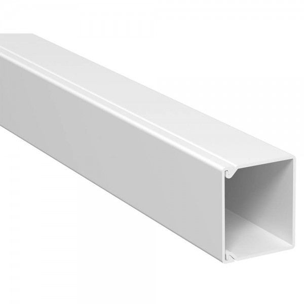 OBO® - 40m, Wand- und Deckenkanal, 30x30mm, WDK, reinweiß (RAL9010), Länge 2 m-WDK 30030RW