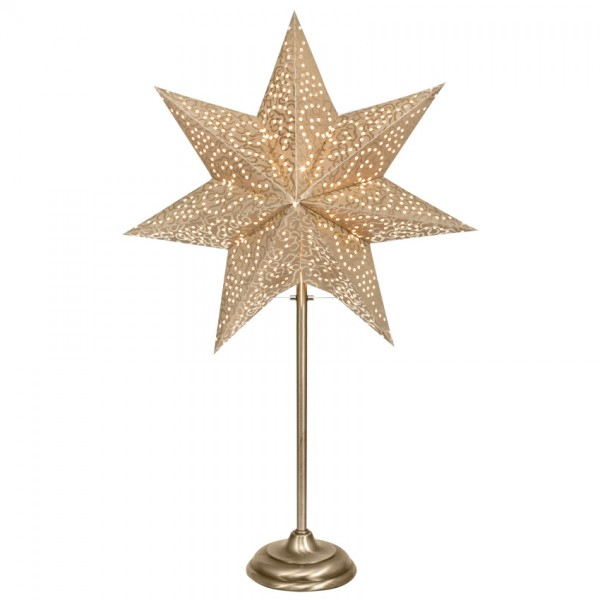 Weihnachtsleuchter, ANTIQUE MINI, gold-messing, H 55cm, 1 x E14/25W