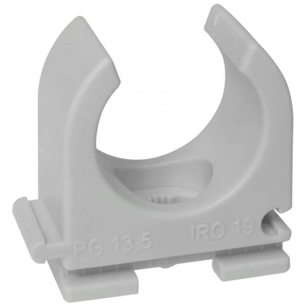 HUP® - Reihen-Klemmschelle, Pg 13,5, IRO 19, M 20, halogenfrei, M 6 Langloch, grau, 100 St.
