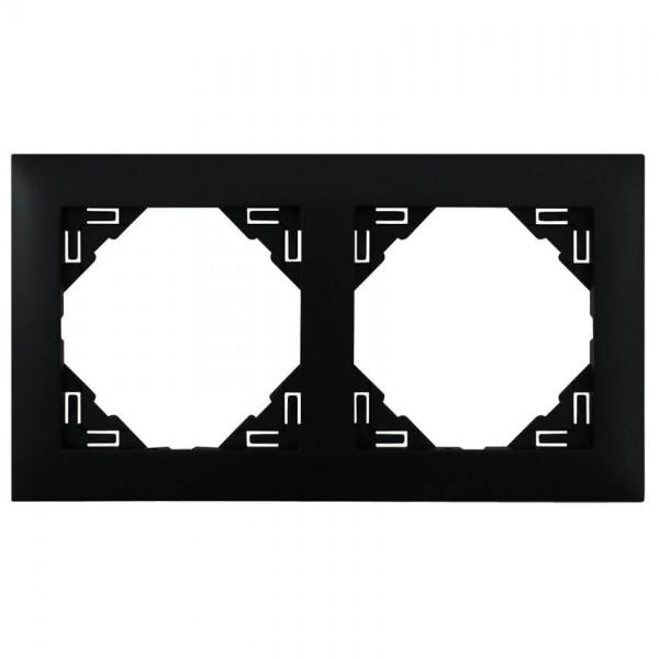 EFAPEL® - 2-fach Abdeckrahmen, LOGUS 90, schwarz matt