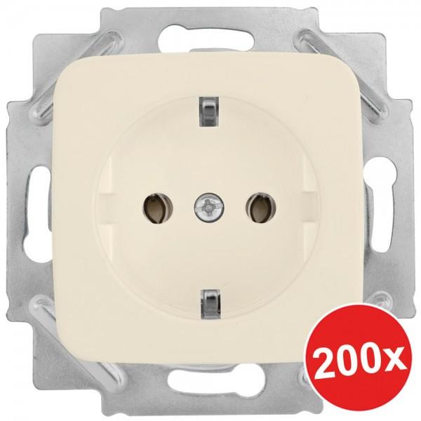 KLEIN®-SI - 200er Set - Kombi-Steckdosen cremeweiß