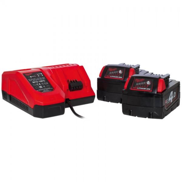 MILWAUKEE® - Akku-Pack-Set, 18V, inkl. 2 Akkus, 1 Ladegerät-M18 NRG-402