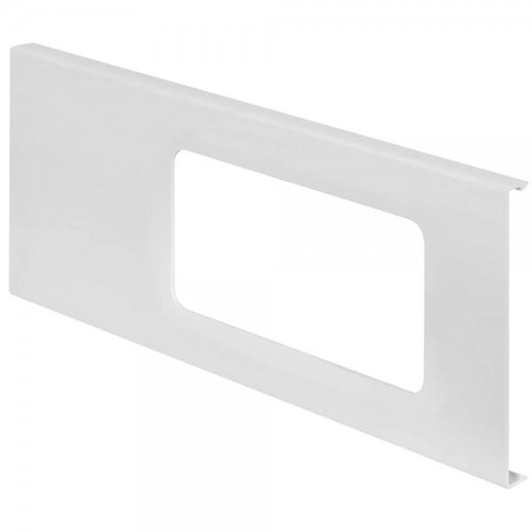 OBO® - Deckeloberteil, 2-fach, H 110mm, WDK, mit Ausschnitt, reinweiß (RAL 9010)-D2-2 110RW