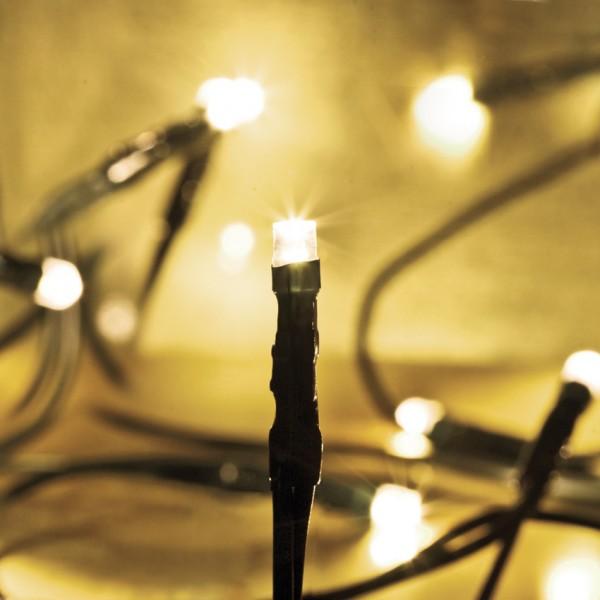 80-flammige LED-Minilichterkette, warmweiße LEDs