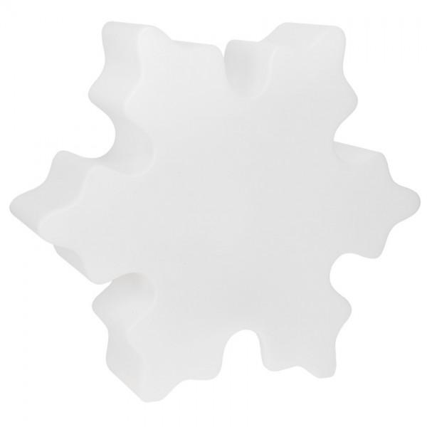 Außendekoschneeflocke, SHINING CRYSTAL, 1 x E27/20W, Ø 600