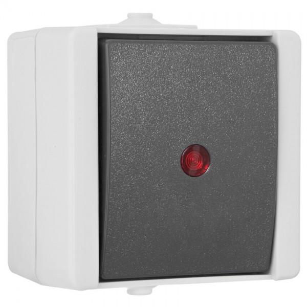 KOPP® - AP/FR - proAQA® - grau/hellgrau - Kontroll/Wechsel-Schalter