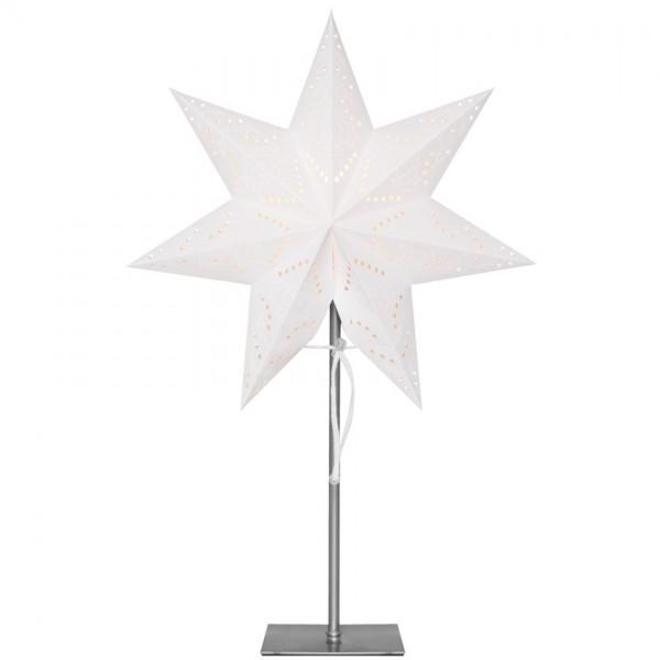 Weihnachts-Standstern, SENSY, weiß, H 55cm, 1 x E14/25W
