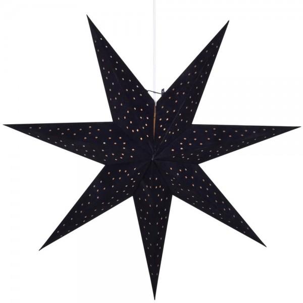 Weihnachtsstern, CLARA, schwarz, Ø 75cm, 1 x E14/25W