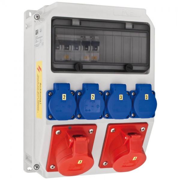 PCE - CEE Steckdosenverteilung ANIF - 2x CEE 16A abgesichert - 4x Schuko abgesichert