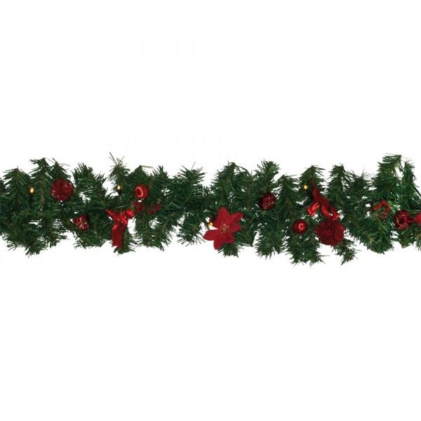 LED-Girlande ,L 2,5m, 20 warmweiße LEDs, Deko rot
