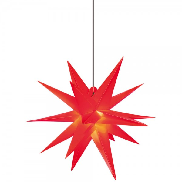 Weihnachtsstern, rot, Ø 65cm, 1 x E14/15W