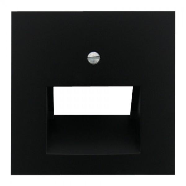 EFAPEL® - Zentralplatte, für 1-2-fach-UAE-Steckdose, LOGUS 90, schwarz matt
